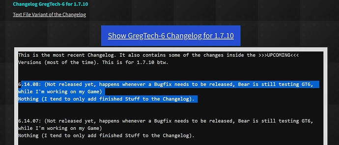 gt6 changelog